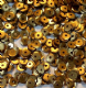 4mm Satin Gold Semi-cupped Sequins x 10g